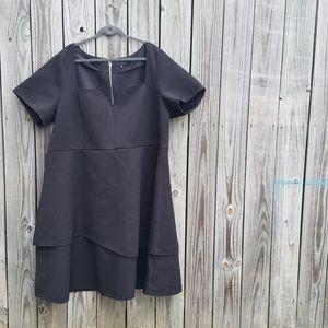 BOGO Eloquii 28 Peplum Black Ruffled Dress